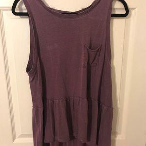 Purple peplum top